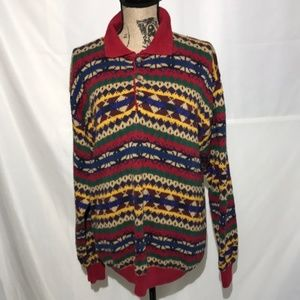 Vintage Woods & Gray Geometric Collared Sweater